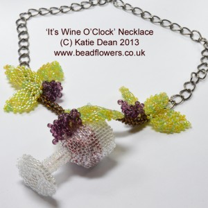 Fall Beading: Wine O Clock Necklace, Katie Dean