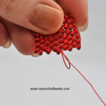 how to finish beading thread