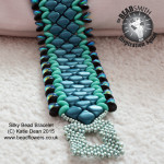 Silky Beads Cuff Bracelet Tutorial