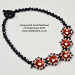 honeycomb beads necklace