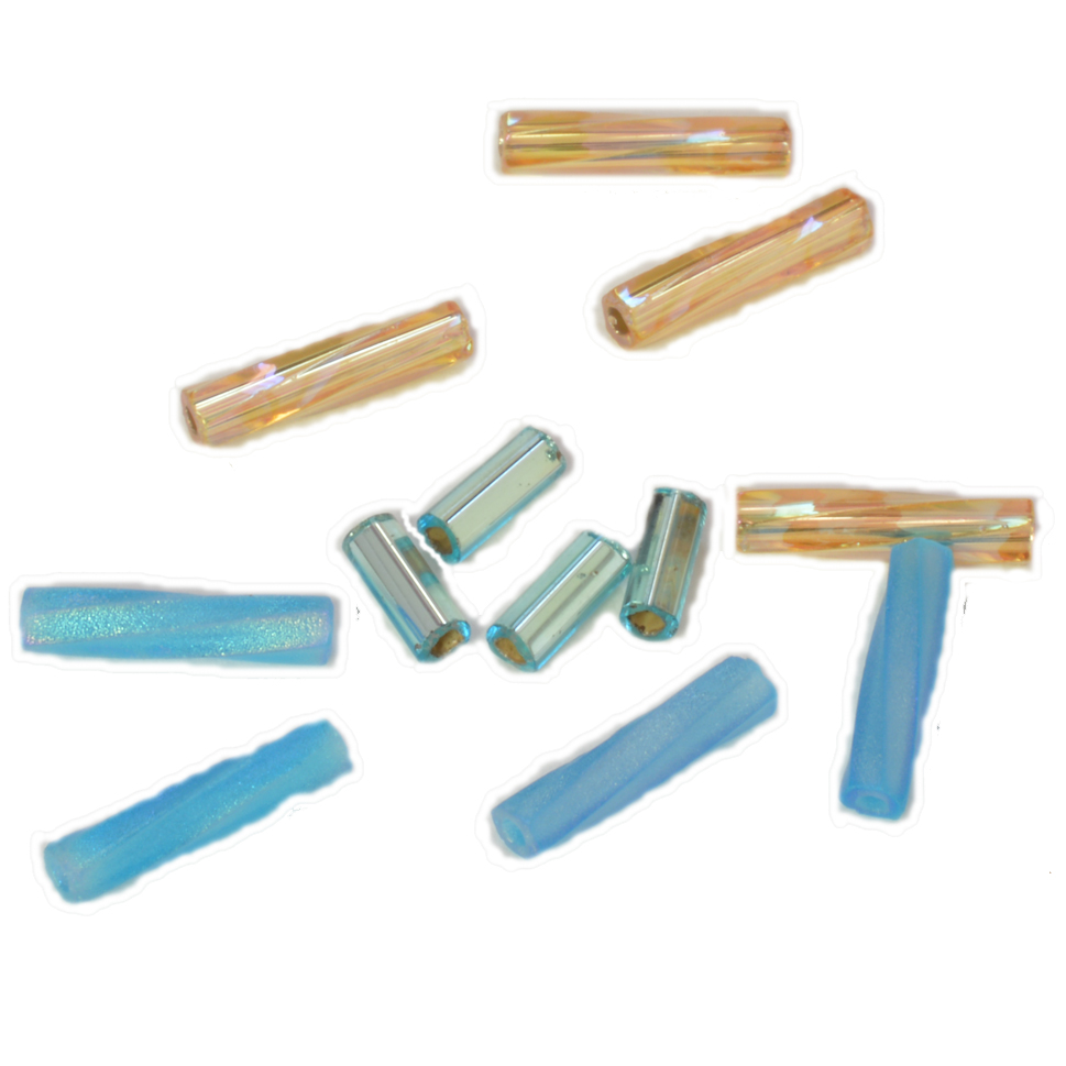 g toho gold bugle beads rainbow mm lined crystal en