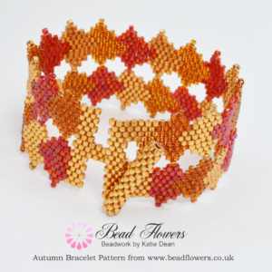 Fall Beading, Autumn Leaves Bracelet, Katie Dean