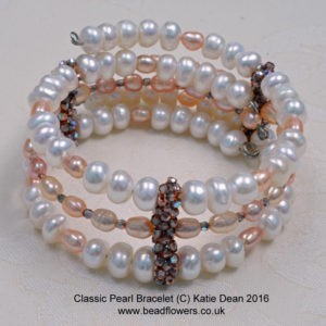 Connectors on Classic Pearl Cuff Bracelet, by Katie Dean