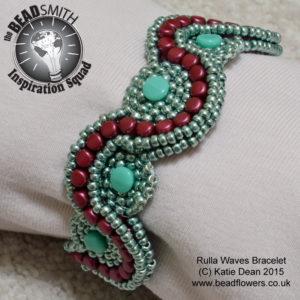 Rulla Waves Bracelet Pattern, Katie Dean