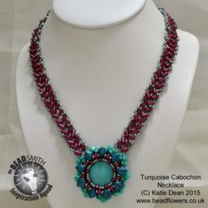 Tuquoise Cabochon Necklace, Katie Dean