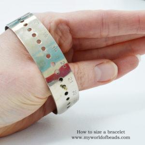How to size a bracelet, bracelet sizer, Katie Dean, My World of beads