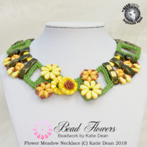 Carrier beads design, flower meadow necklace, Katie Dean