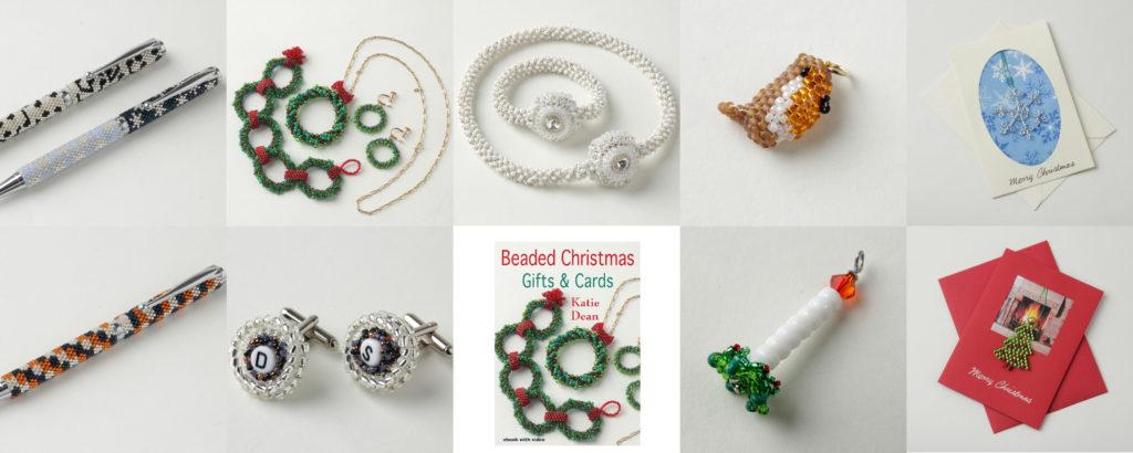 Beaded Christmas Ornament Pattern Books, Katie Dean, Beadflowers